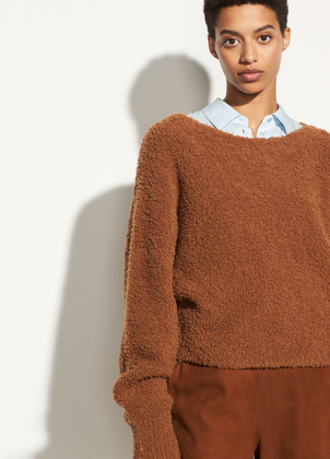 Vince Teddy Cropped Boatneck Tops