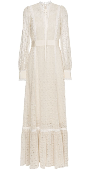 Gucci Ivory Macrame Dress Dresses