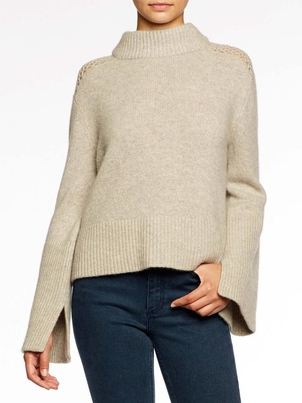 Brochu Walker The Mathilde Crochet Mock Neck Tops