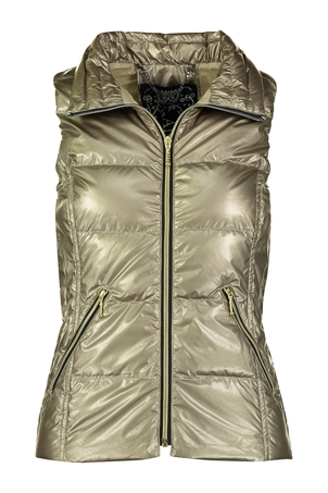 Anorak The Short Down Nylon Vest - Gold Outerwear