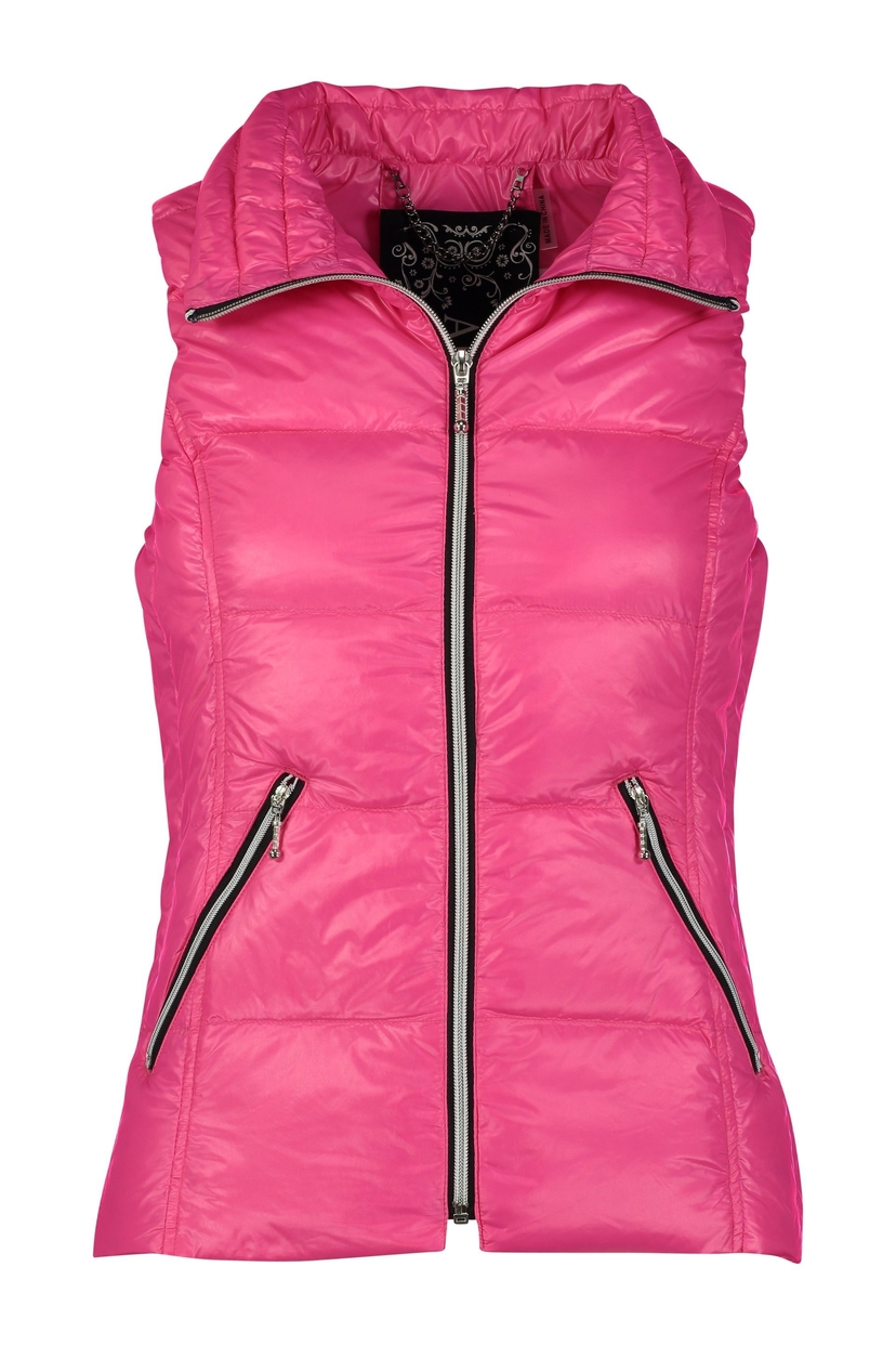 Anorak The Short Down Nylon Vest - Hot Pink Outerwear