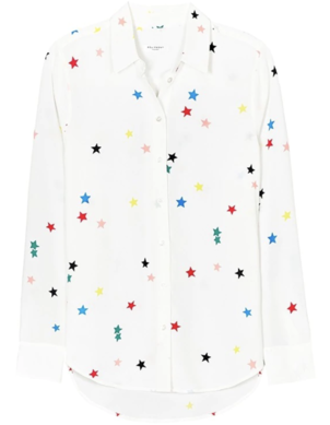 Equipment Essential Silk Shirt - Rainbow Star Print Tops