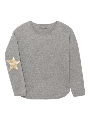 Wyse Cashmere Juliet Metallic Star Sweater Tops