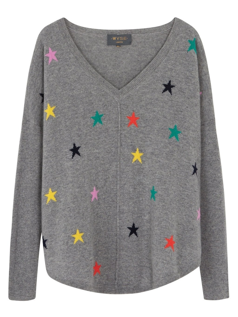 Wyse London Emilie Multi Star Sweater Tops