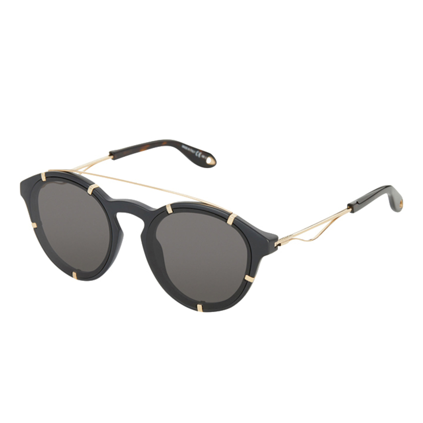 Givenchy Matte Black & Gold Sunglasses Accessories