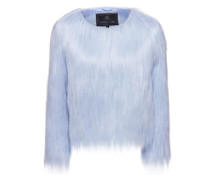 Unreal Fur Mini Me Jacket in Pastel Blue Outerwear