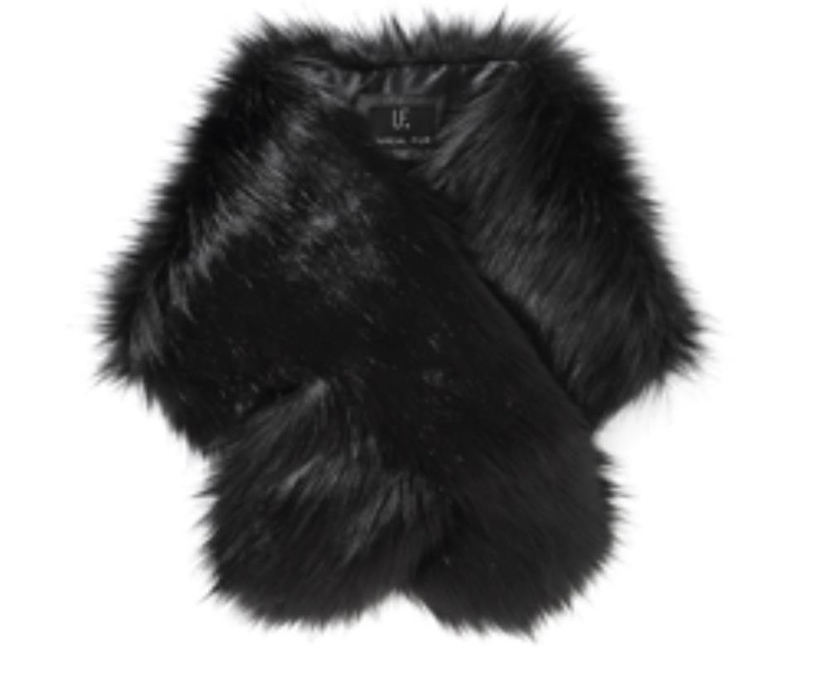 Unreal Fur Furocious Thread-Through Scarf in Black