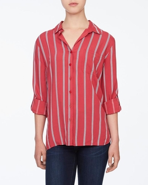 Beach Lunch Lounge Alana Stripe Button Down - Rogue Tops