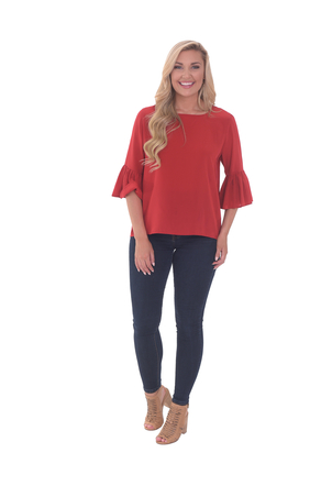 LaRoque The Ivy Top - Cranberry Tops