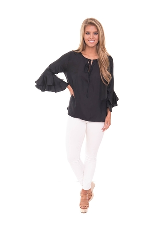 LaRoque Harlow Top - Black Tops