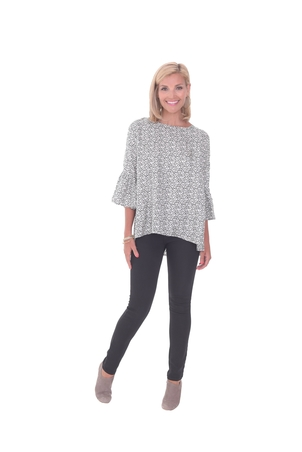 LaRoque Ivy Top - Black/White Tops