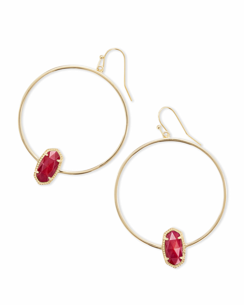 Kendra Scott Elora Earring - Red Mother of Pearl Jewerly