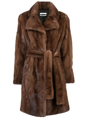 Co Belted Mink Coat Outerwear