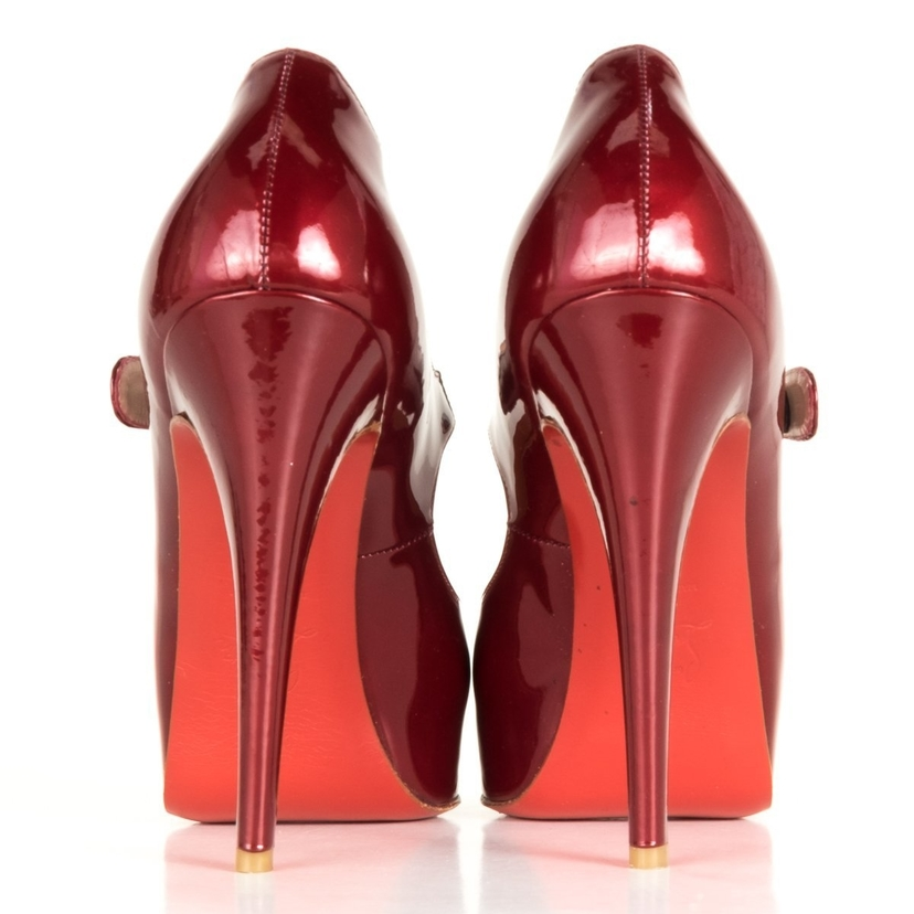 sports shoes d372b 88659 Christian Louboutin Burgundy Mary-Jane Heels 39
