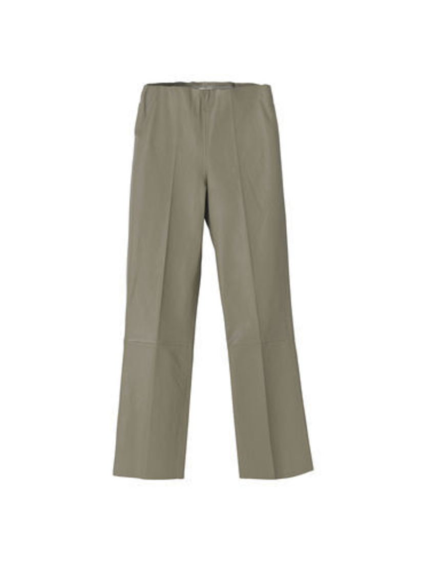 By Malene Birger Granite Green Leather Florentina Trousers Pants