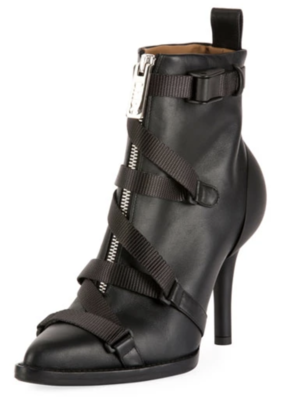 Chloé Tracy Strappy Front-Zip Ankle Boot Shoes