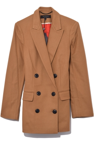 rag & bone Ellie Blazer in Dark Camel Outerwear