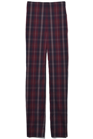 rag & bone Simone with Yoke Pant in Burgundy Plaid Pants
