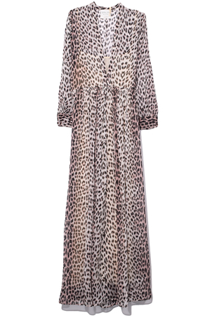 Forte Forte Savage Vanity Print Silk Dress in Polvere Dresses