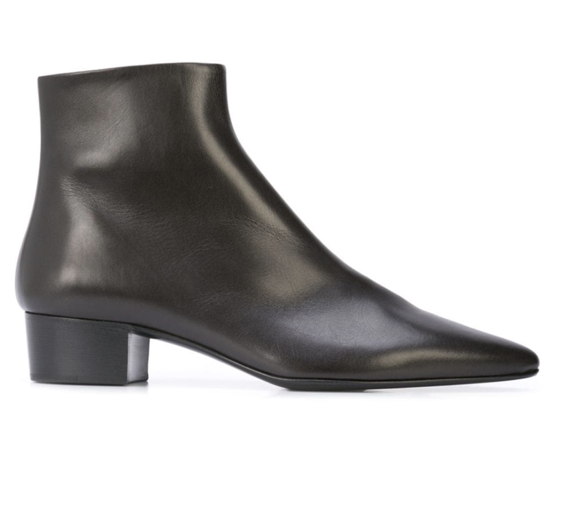 The Row Leather Bootie Shoes