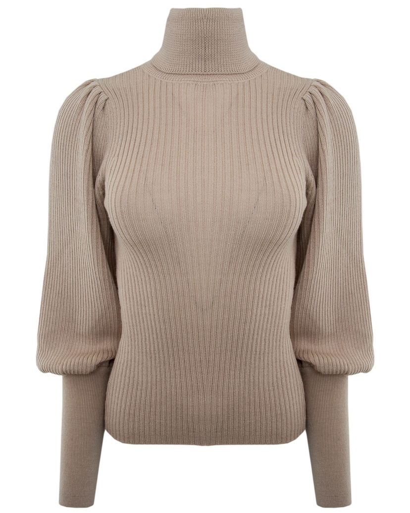 Ulla Johnson Ulla Johnson Cream Brynn Turtleneck Tops