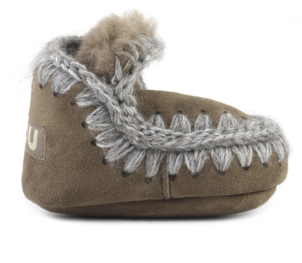 Mou Infant Eskimo Suede - Dark Stone