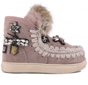 Mou Eskimo Kid Sneaker Mix Patch - Antic Rose