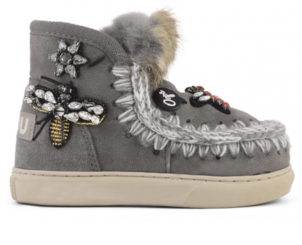 Mou Eskimo Kid Sneaker Mix Patch - New Grey