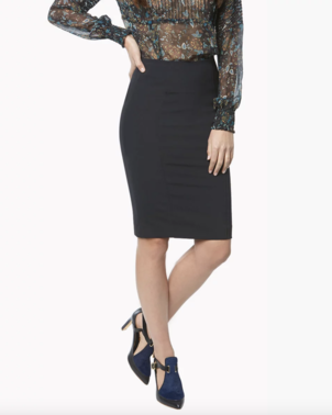 Veronica Beard Scuba Pencil Skirt - Black Skirts