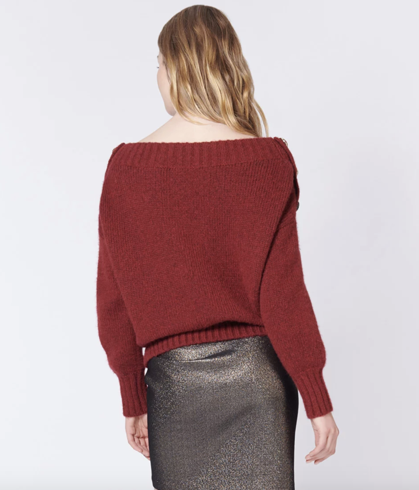 Veronica Beard Chase Sweater - Red Tops