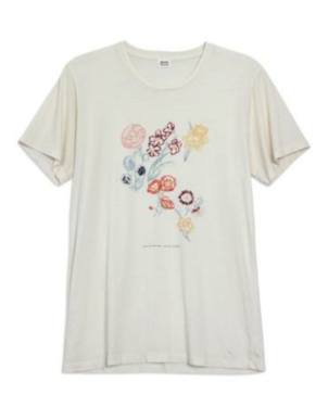 Bliss and Mischief Art and Flowers Tee Tops
