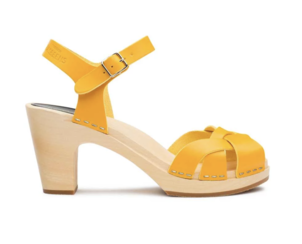 Swedish Hasbeens Kringlan Sandal in Warm Yellow Shoes