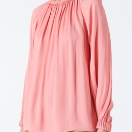 Georgette Tie Back Viscose Top - Pink Haze