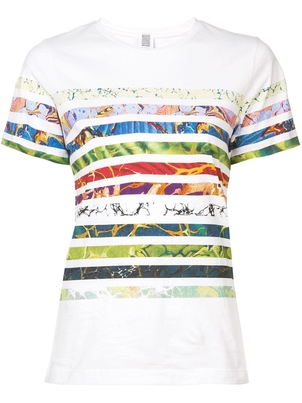 Rosie Assoulin Striped Tee Multi Stripe Tops