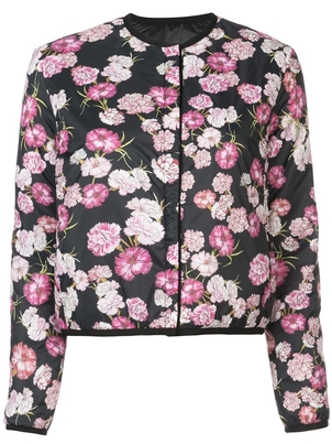 Giambattista Valli Flower Printed Light Collarless Jacket Outerwear