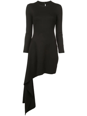 Rosetta Getty Asymmetric Drape Dress Dresses