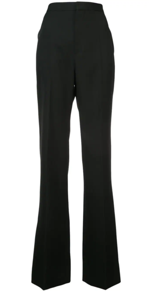 Givenchy High Waisted Tall Black Pant Pants