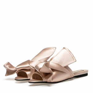 N°21 Satin bow mules flat Shoes