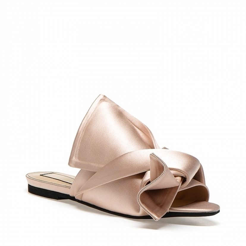 N°21 Satin bow mules flat Sale Shoes