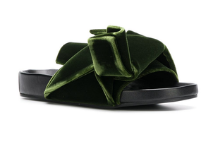 N°21 Velvet flat bow mules Shoes