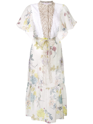 See by Chloé Floral Midi Dress Dresses