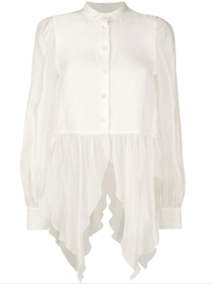 See by Chloé Long Sleeve Draped Blouse Tops