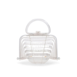 Acrylic Lilleth Bag in Pearl