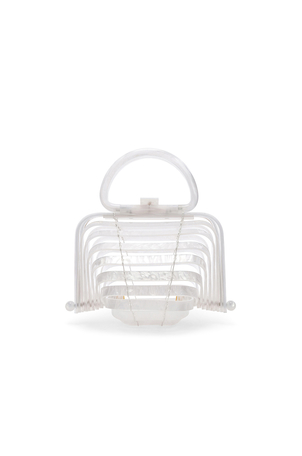 Cult Gaia Acrylic Lilleth Bag in Pearl Bags