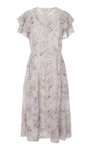 Loveshackfancy Claribel Floral Silk Midi Dress Dresses