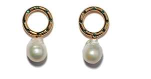 Lizzie Fortunato Seaside Peal Earrings Jewelry