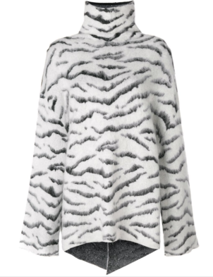Givenchy Zebra Printed Sweater Tops
