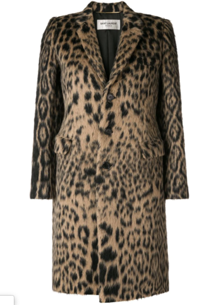 Saint Laurent Leopard Coat Outerwear
