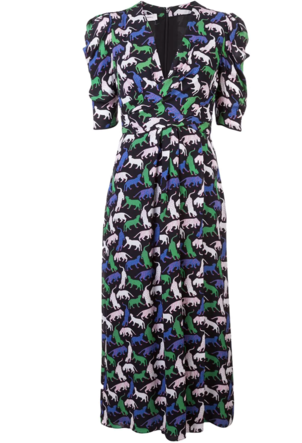 Carolina Herrera Cat Printed Dress Dresses