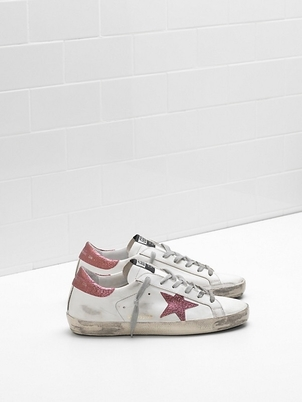 Golden Goose Deluxe Brand Golden Goose White & Pink Superstars  Shoes
